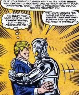 ultron comic hug