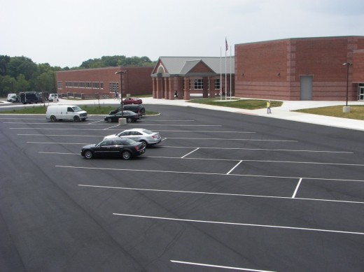 school parking lot