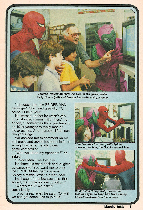 Blip magazine spiderman atari